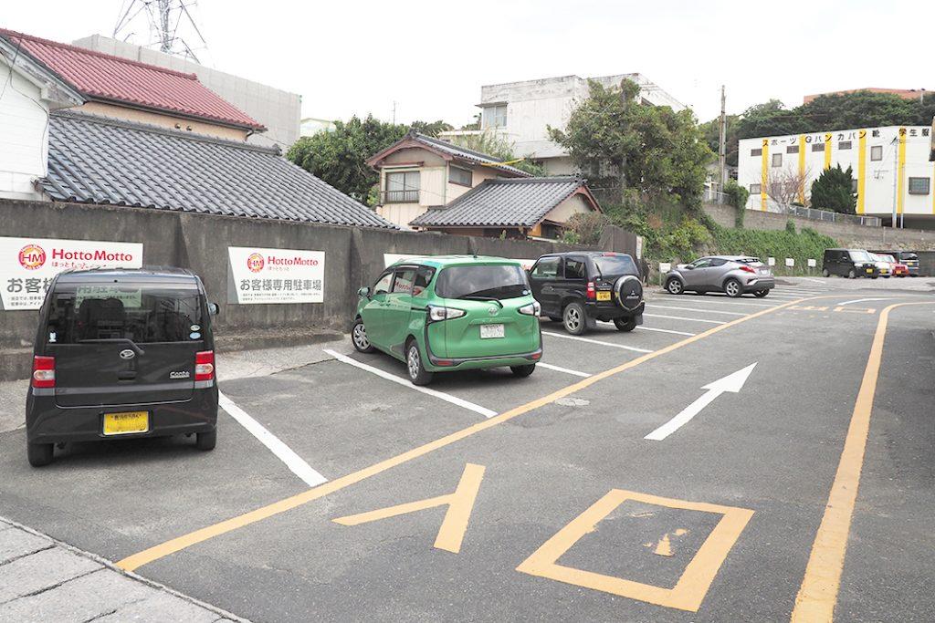 ほっともっと 種子島店は駐車場広々!